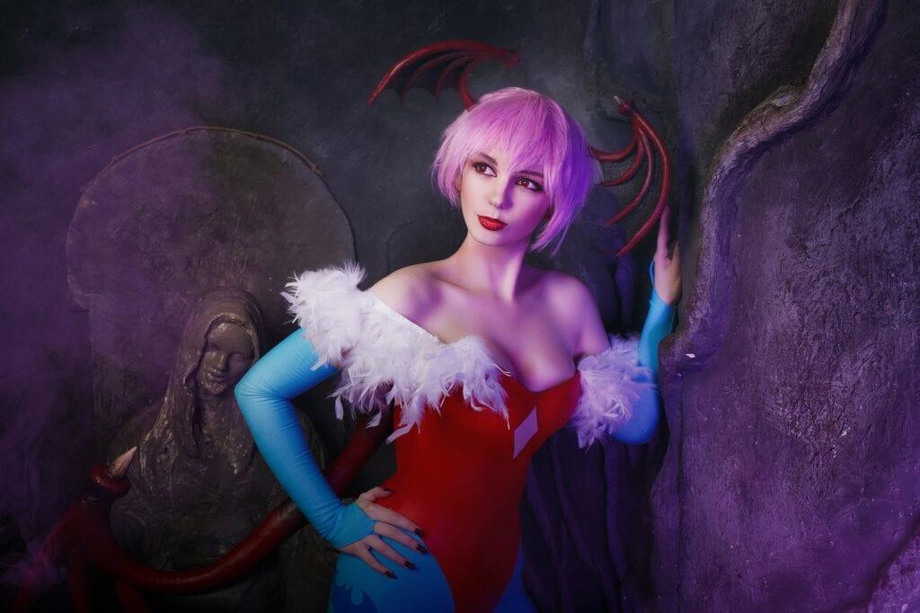 Darkstalkers - Morrigan Aensland & Lilith cosplay - Сиськи, Попки, Косплей, короткие волосы, большие сиськи