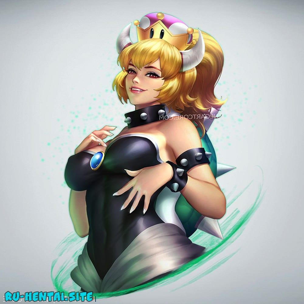 Принцесса Боузер порно | Princess Bowser #2 - трансформация, Сиськи, Попки, большие сиськи