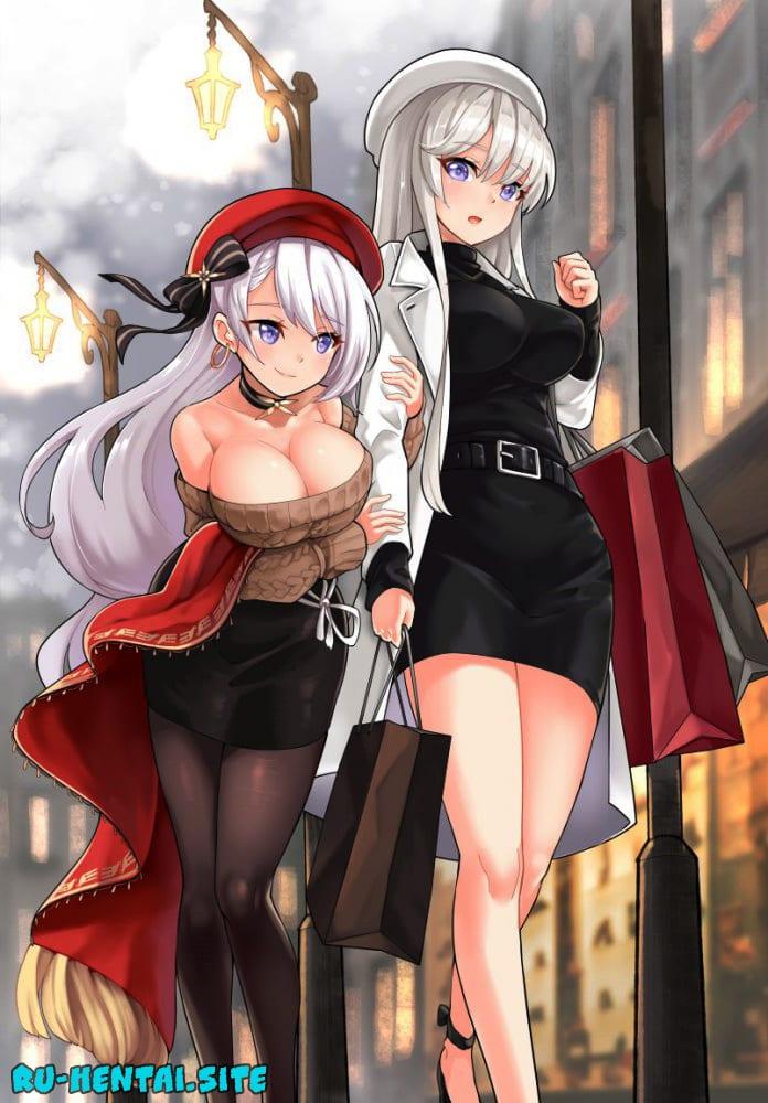 Azur Lane hentai / Лазурный Путь хентай - Сиськи, Попки, Косплей, короткие волосы, большие сиськи