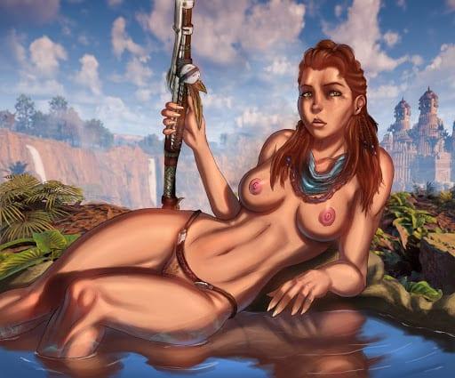Aloy Porn Horizon Zero Dawn | Элой Порно - ally - Сиськи, боевые