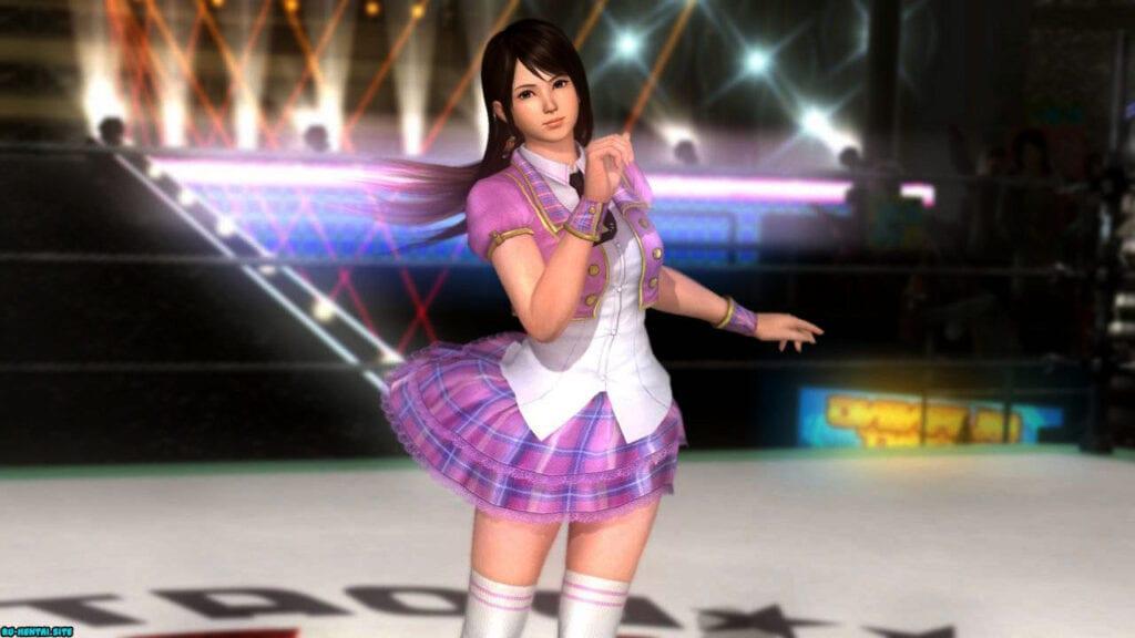 Dead or Alive anime Hentai 3D - школьницы, Школа, спорт, Сиськи, Попки, поза, подмышки, маленькие сиськи, Косплей, колготки, большие сиськи, 3D