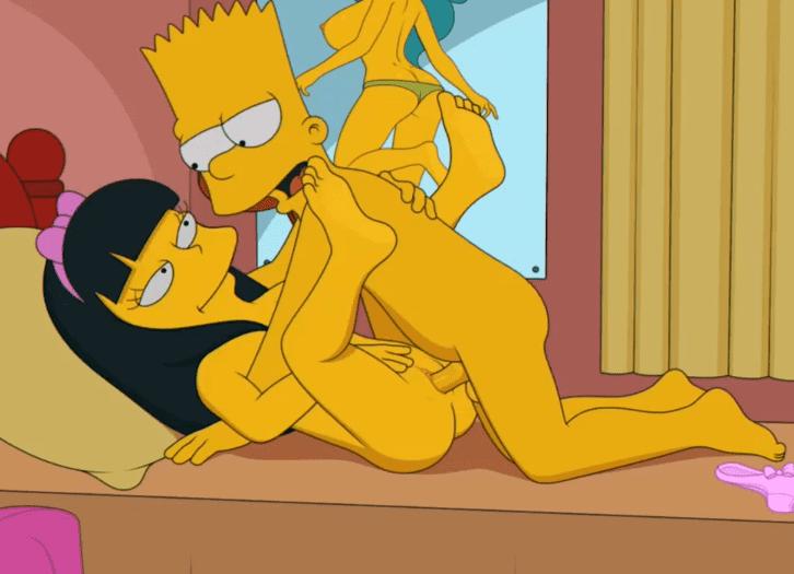 Барт трахает Джессику Лавджой в его комнате
