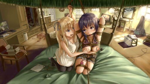 Две подружки после школы - Сиськи, маленькие сиськи, короткие волосы